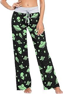 Pantalones de Pijama de Pierna Ancha para Mujer Pantalones de Dormir cómodos Casuales con cordón XS Patrones Coloridos de Patas