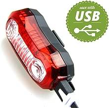 UHAoo 5 LED USB Recargable Cola luz de la Bici de la Bicicleta de Seguridad Ciclismo advierte la l/ámpara Trasera port/átil Flash Trasera