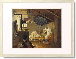 カール・シュピッツヴェーク 「貧しき詩人 The Poor Poet. 1839」 額装アート作品