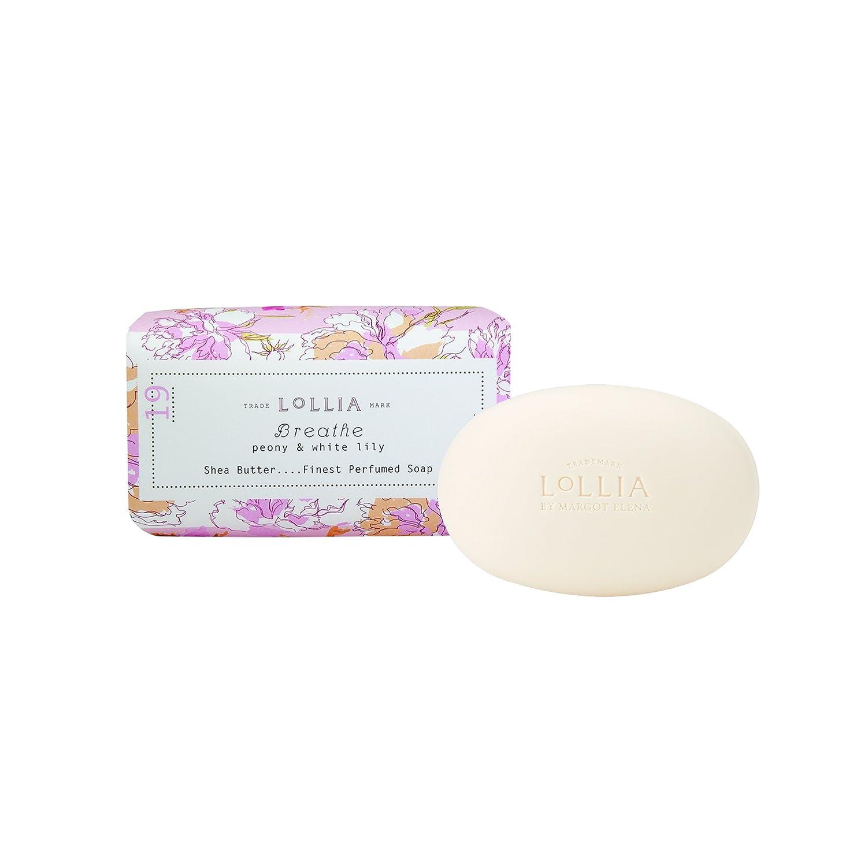 酸化物フォーラムスナップロリア(LoLLIA) フレグランスソープ140g Breath(化粧石けん 全身用洗浄料 ピオニーとホワイトリリーの甘くさわやかな香り)