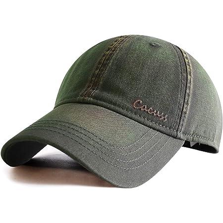 CACUSS Baseball Cap for Men Cotton Dad Hat Classic Sports Hat with Adjustable Buckle Closure Vintage Golf Cap
