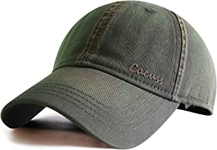 CACUSS Men`s Cotton Classic Baseball Cap with Adjustable Buckle Closure Dad Hat