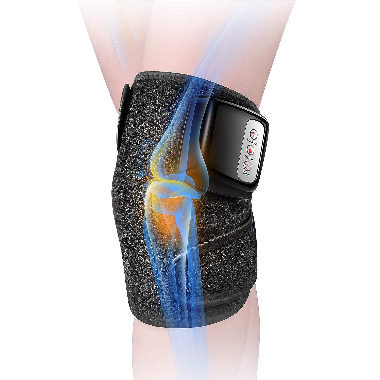 大きさ古い米ドル膝マッサージャー 関節マッサージャー マッサージ器 フットマッサージャー 振動 赤外線療法 温熱療法 膝サポーター ストレス解消 肩 太もも/腕対応
