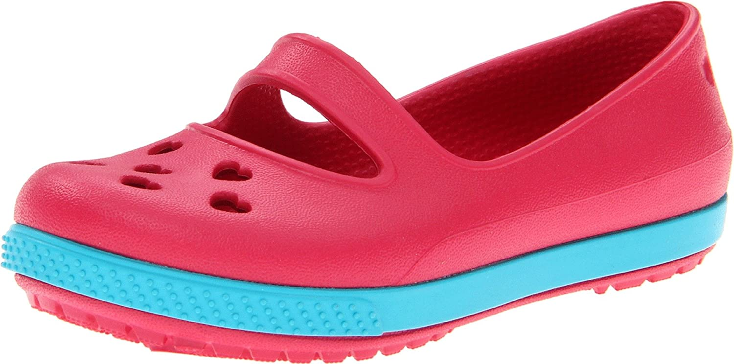 crocs 14828 CB Airy Hearts Sandal (Toddler/Little Kid),Raspberry/Turquoise,6 M US Toddler