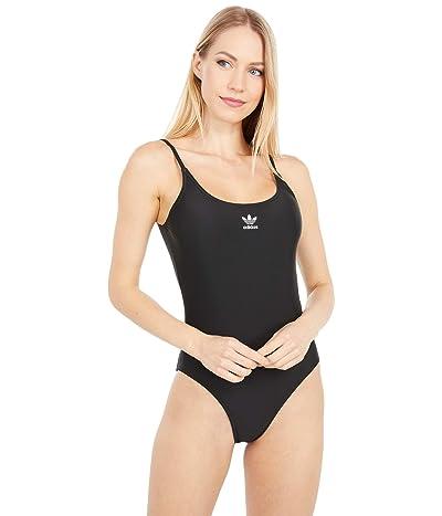 adidas Originals LRG Logo Swimsuit (Black/White) Women