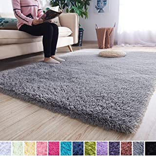 Noahas Super Soft Modern Shag Area Rugs Fluffy Living Room Carpet Comfy Bedroom Home Decorate Floor Kids Playing Mat 4 Fee...