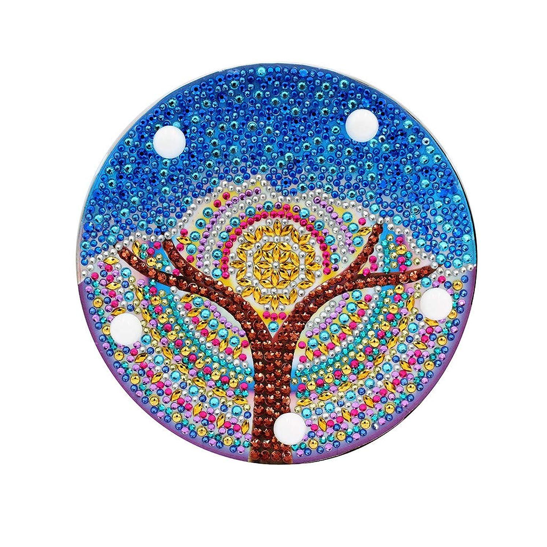 ライオネルグリーンストリートトランク居心地の良いBarlingrock バーリングロックDIYダイヤモンド塗装ライト刺繍フルドリル専用ダイヤモンドLEDライトダイヤモンド塗装スタイルランプ(青)