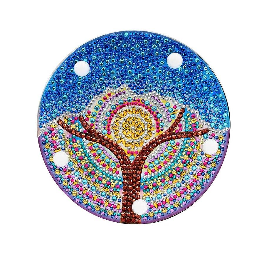 縁持つ小間Barlingrock バーリングロックDIYダイヤモンド塗装ライト刺繍フルドリル専用ダイヤモンドLEDライトダイヤモンド塗装スタイルランプ(青)