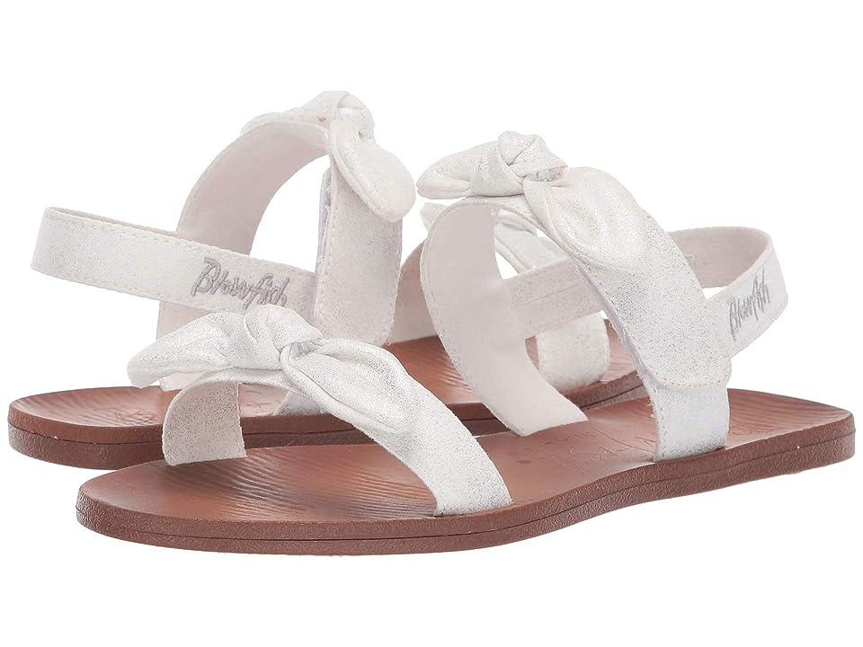 Blowfish Kids Dynk K (Little Kid/Big Kid) (Metallic White Draped Microfiber) Girls Shoes