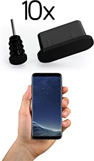 innoGadgets 10x Anti Dust Plugs for Smartphone, MacBook, Laptop | USB-C Dust Plug for Samsung Galaxy S8, S9, S10 | Silicone Dust Plug – Black