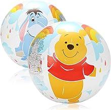 2X Pelota de Playa - Pelota de Playa con Motivos de Las Figuras de Disney Winnie The Pooh, Tigger y I-Aah - Pelotas de Playa para niños