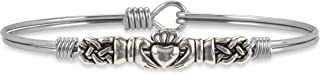 Claddagh Bangle Bracelet for Women Made in USA
