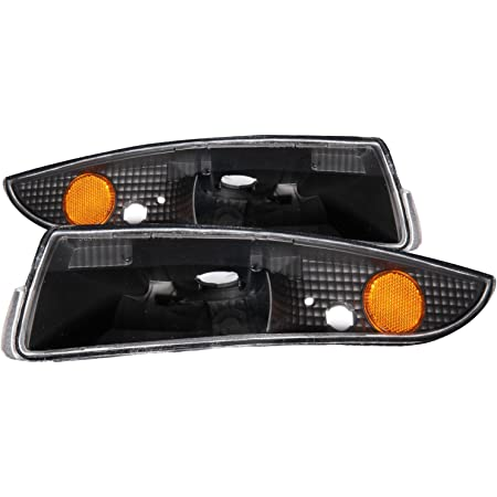 For 1993-2002 Chevy Camaro Front Bumper Lights Parking Signal Lamps Black