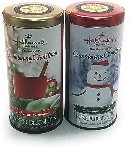 Republic of Tea Hallmark Channel Countdown to Christmas Tea Cardamom Cinnamon and Cinnamon Vanilla