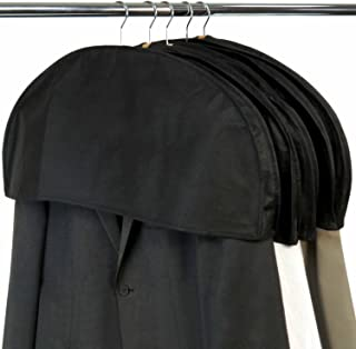 HANGERWORLD 20 Black Breathable 24inch x 12inch Gusset Shoulder Dust Dirt Protector Storage Cover Clothes Bags