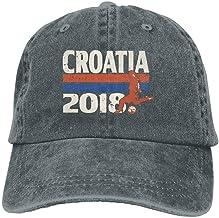 Presock Gorras De Béisbol Croatia Football 2018 Adult Cowboy Baseball Caps Denim Hats for Men Women