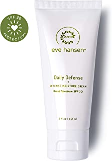 Eve Hansen Face Moisturizer with SPF 30 Sunscreen | Hypoallergenic Daily Defense Intense Moisture Cream for Face and Neck | Fragrance Free 2 oz