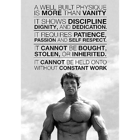 Arnold Schwarzenegger Motivation Gym Poster, Art Print - No Frame (24 X 36)