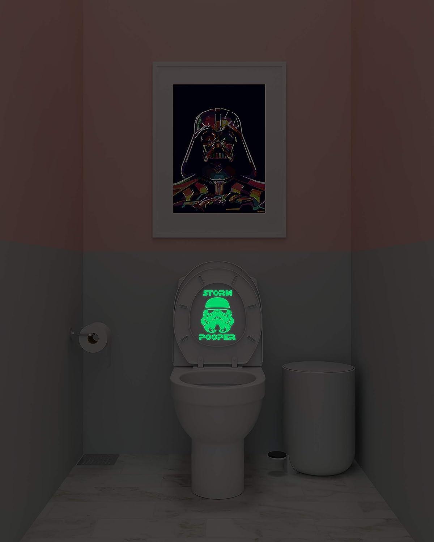 6. Star Wars Stormtrooper Inspired Storm Pooper Parody Vinyl Decal (Black or Glow in The Dark)