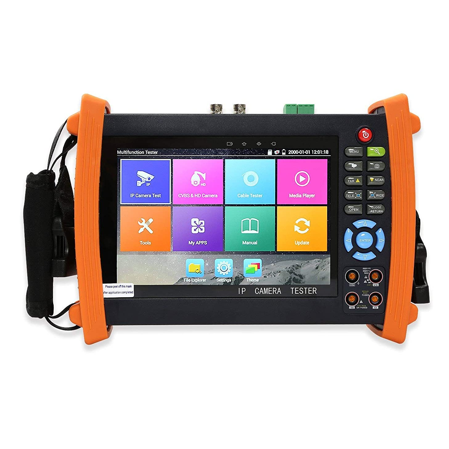 Electop Upgrade IP Camera Tester 7 Inch Retina Display Analog Camera Tester CCTV Tester H.265 PTZ Control POE HDMI Input and Output Rapid ONVIF WiFi with Digital Multimeter ET-8600M Plus