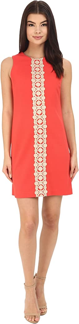 Ottoman Shift Dress with Lace Detail