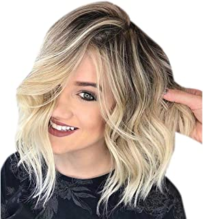 Brazilian Virgin Human Hair Wigs Glueless Short Bob Wigs Wavy Cosplay Holiday Party Wigs,Best Gift Valentine's Day