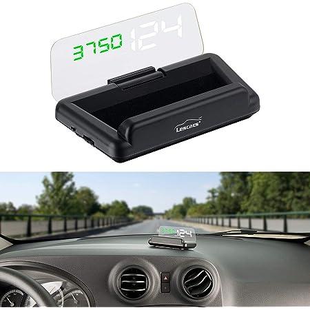 Qiilu A8 5 5 Zoll Obd Ii Auto Hud Head Up Display Auto Windshied Reflektierende Bildschirm Geschwindigkeit Display Auto