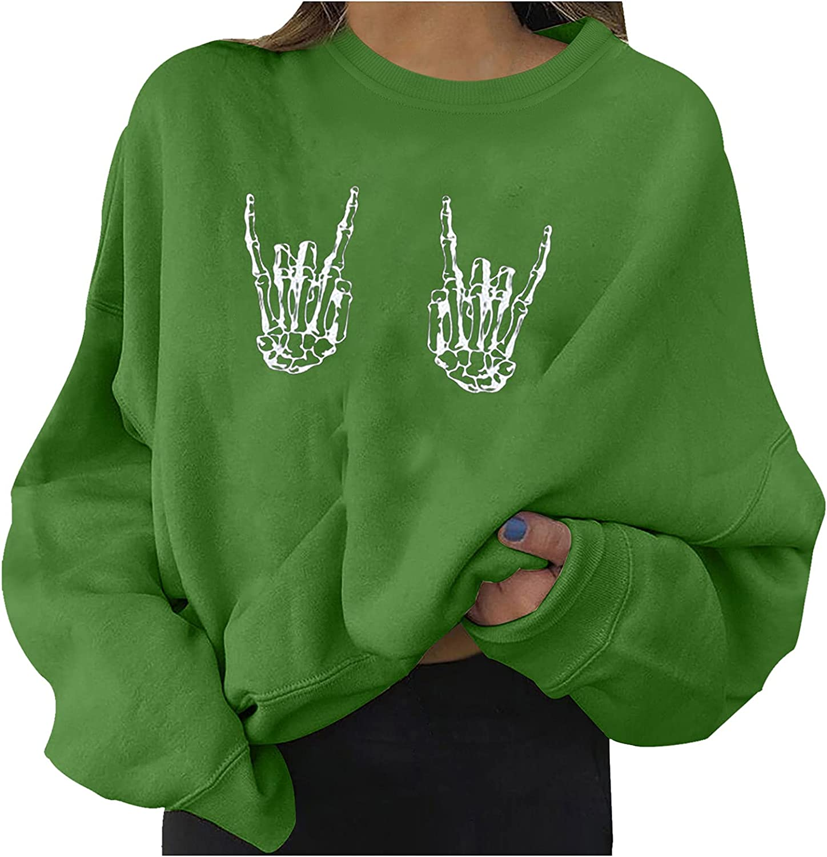 Smooto Women Sweatshirt Winter Pullover Sweater Warm Year-end annual account Max 51% OFF L Halloween