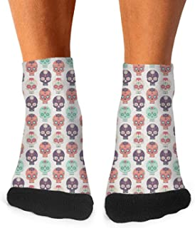 Novelty Heavy rock music badge skull Fashion Men's Sporty Odor-Resistant Low Cut socks