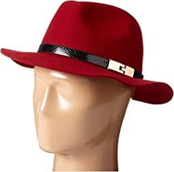 WFH7968 Adjustable Fedora with A Gold Buckle