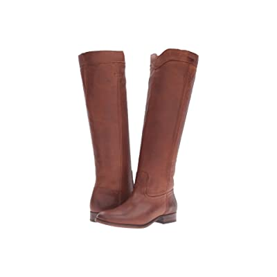 Frye Cara Roper Tall (Cognac Soft Pebbled Full Grain) Women