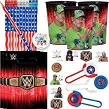 WWE Birthday Party Favors and Goodie Bag Fillers For 12 With WWE John Cena Favor Cups, WWE Goody Bags, Tattoos, American F...
