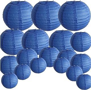 """FANGLIANG 18 جهاز كمبيوتر شخصى الملكي الأزرق ورقة فانوس 8""""-14"""" أحجام متنوعة كبيرة جولة الصينية اليابانية بول شينواز لامبيو..."""