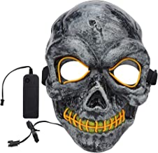 Qkiss Scary Mask, Led Masker Halloween Schedel Mas...