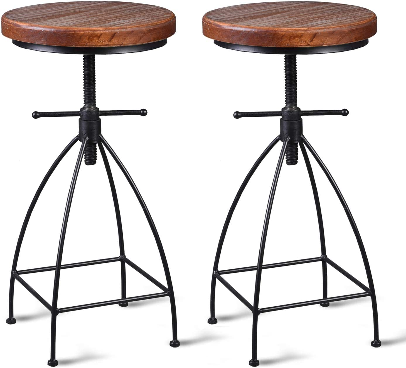 Buy Diwhy Industrial Vintage Rustic Bar Stool, Kitchen Counter ...