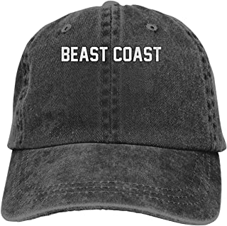 Beast Coast Mens Cotton Adjustable Washed Twill Baseball Cap Hat