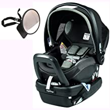 Peg Perego Primo Viaggio Nido Car Seat with Load Leg Base w/ Back Seat Mirror - Atmosphere