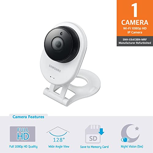Samsung SNH-E6413BN SmartCam HD WiFi IP Camera with 16GB micro SD Card (Certified