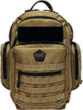 HSD Diaper Bag Backpack for Dad, Large Waterproof Tactical Travel Baby Bag for Men + Changing Pad, Insulated Pockets, Stroller Straps and Wipe Pocket. Multi-function, Military Style. (Coyote Brown)