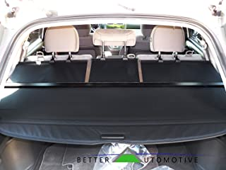 BETTER AUTOMOTIVE Custom Fit 2007-2011 Honda CRV Cargo Cover Black Retractable Cover Trunk Shielding Cover