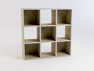 Desconocido Estantería Cubo Mod.90. 9 Huecos. OSB Bruto Colección Natura.