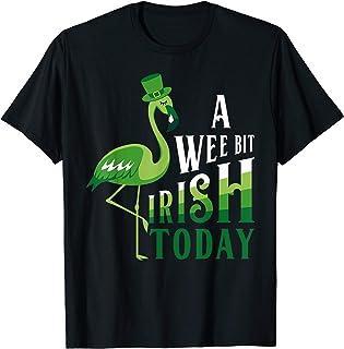 A Wee Bit Irish Today Flamingo St. Patrick's Day T-Shirt