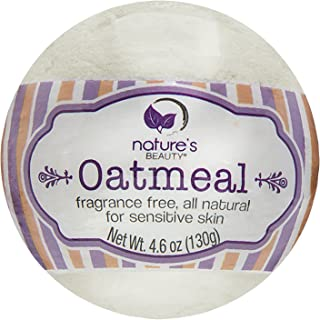 Nature's Beauty Oatmeal BATH BOMB, 4.6 Oz, Spa Bomb Fizzies, made with Oatmeal, Almond Oil, Coconut Oil for...