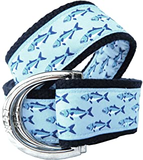No27 Big Boy Bluefishl Nautical Belt, Canvas Belt