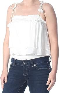 Free People Women's Smocked Tiered Tassle Knit Top