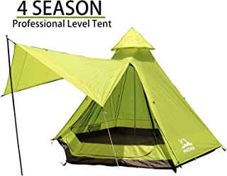 Hasika 12fx10x8ft Lightweight Double Layers Waterproof Anti-UV Windproof 4 Season Dome Family Outdoor Camping Tent 4-6 Person(Not Contains Pole)