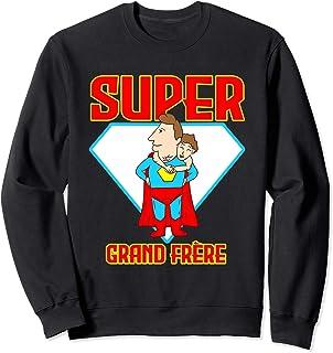Super Grand-Frère Héro Big Brother Famille Homme Cadeau Sweatshirt
