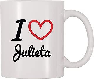 4 All Times I Love Julieta Personalized Name Coffee Mug (11 oz)