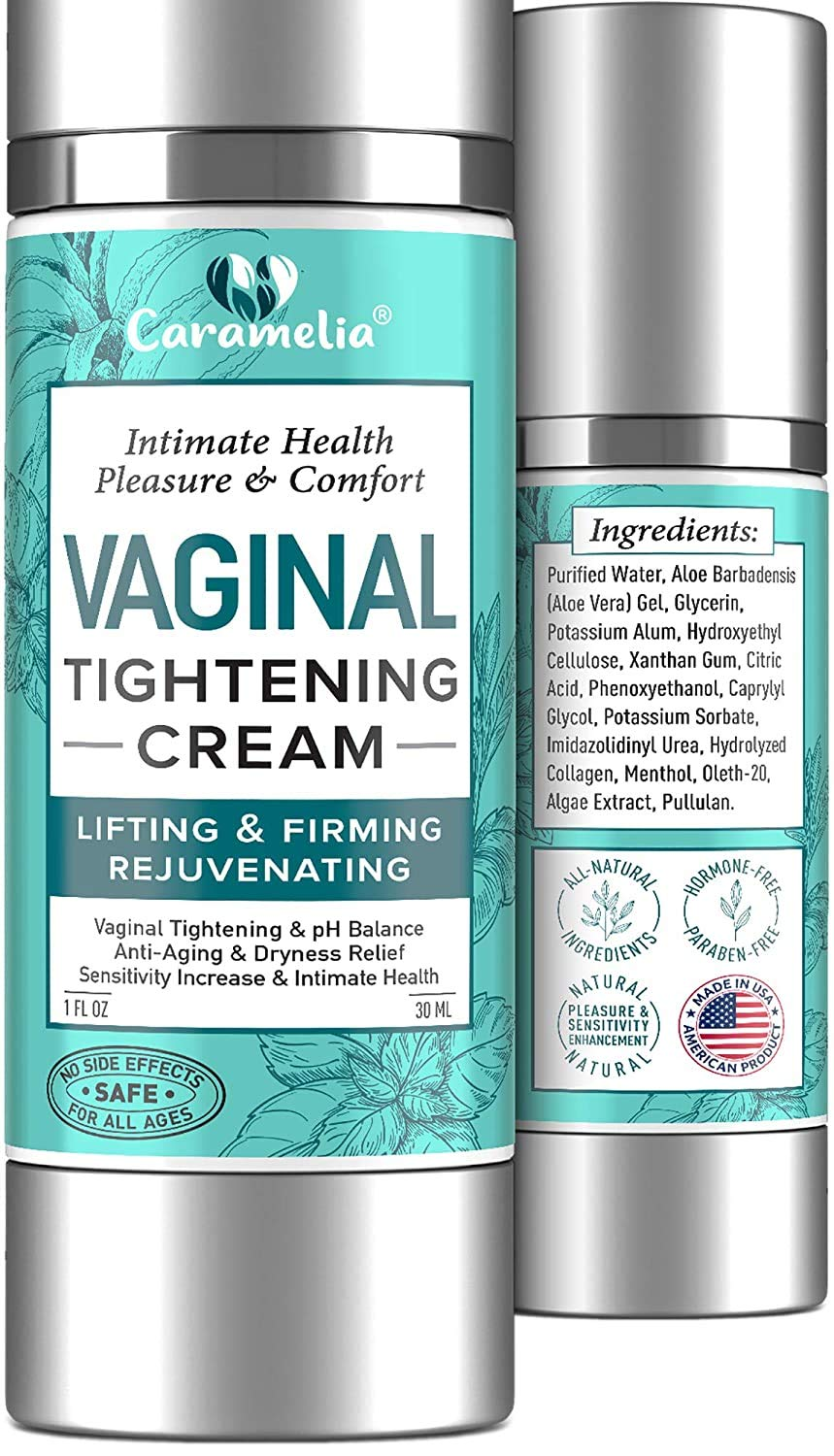 Vaginal Tightening Cream - Narrows Vaginal Walls Improves Vagina Health with Anti-inflammatory and Soothing Effect - Enhances Intimate Sensitivity Restoring Self-Confidence - Made in USA - 1 fl oz