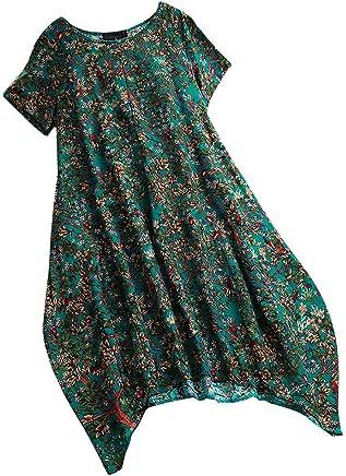 af1d2161c41 Tanlo 2019 New Women s Floral Print Dress Causal Short Sleeve O-Neck Mini  Summer Loose